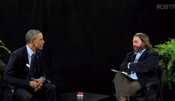 You Must Watch Zach Galifianakis Interview President Obama On 'Between TwoFerns'