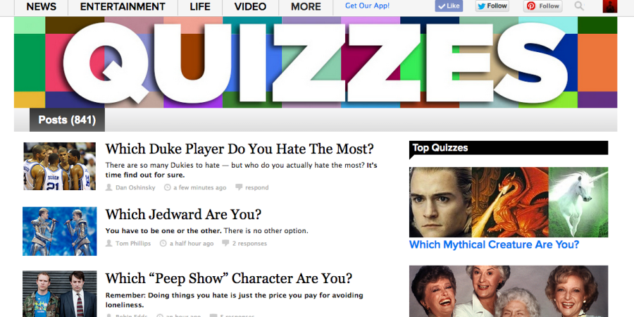 If You Were A BuzzFeed Quiz, Which Quiz Would You Be? Take This BuzzFeed Quiz To FindOut!