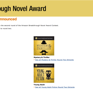 What To Do When You Fail: How I Handled Blatantly Losing The Amazon Breakthrough Novel Award Contest