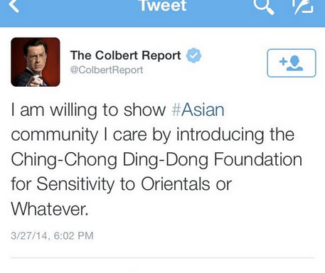It's Time To Round Up And Gas The Chinese, And CancelColbert
