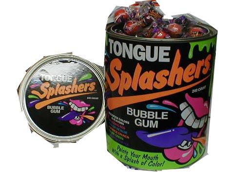 Tongue Splashers Assorted Bubble Gum (36 count)