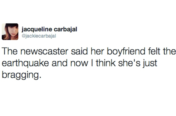 Twitter Responds To Los Angeles' 4.4  Earthquake In The Most Hilarious WayPossible