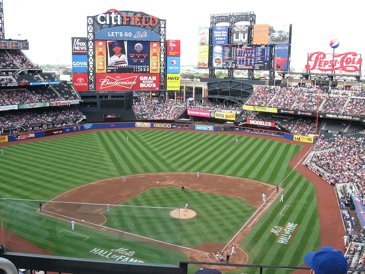 A Major League Baseball game between the New York Mets and the St. Louis Cardinals at Citi Field, June 2, 2012.