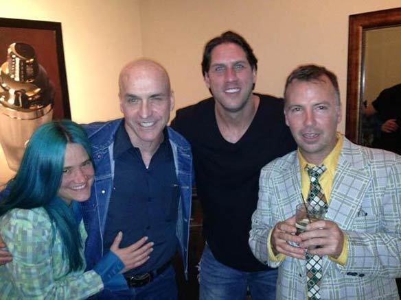 "L-R: Amy ""Bingo"" Bingaman, me, John Rocker, Doug Stanhope. Photo courtesy of Amy Bingaman."