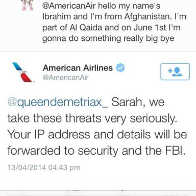 Here's Why You Probably Shouldn't Tweet Terroristic Threats To Airlines