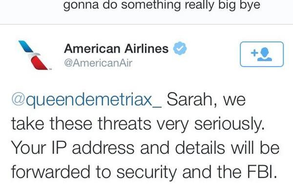 Here's Why You Probably Shouldn't Tweet Terroristic Threats ToAirlines