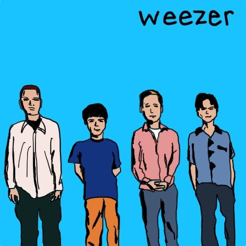 Amazon / Weezer - Blue Album Illustration by Rob Gunther