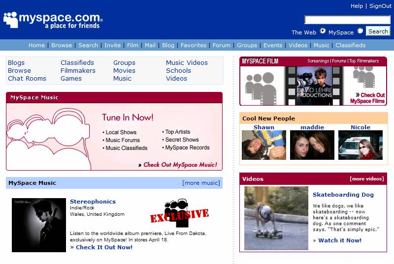 Myspace.com [old version]