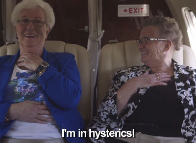 These Two Old Ladies Flying For The First Time Might Be The Most Adorable Humans Ever