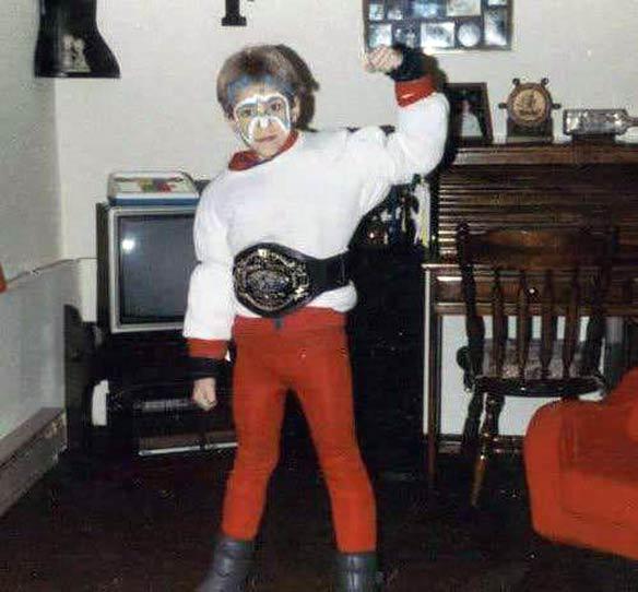 My Halloween costume, 1988.