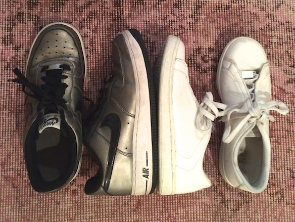 Sneakers by: Nike and Raf Simons (both vintage).