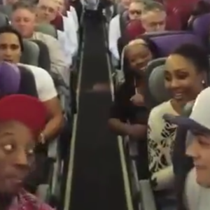 "Disney On Broadway's Cast Of The Lion King Sings ""Circle Of Life"" On Their Flight"