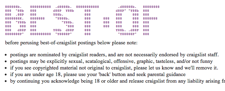 20 Hysterical Listings From Craigslist's Best Of2014