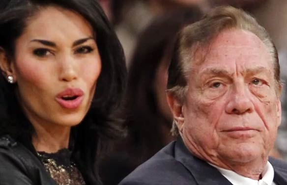 V. Stiviano and Donald Sterling via YouTube.