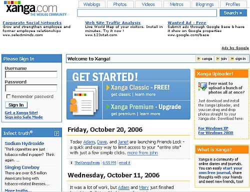 Xanga.com [old version]
