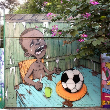 This Brazilian Artist Was Able To Get The Attention Of Millions With One Simple Mural