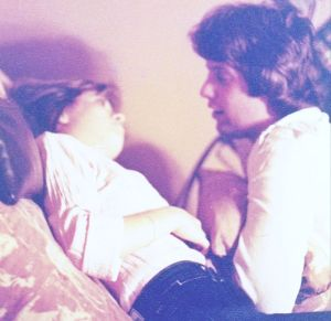 1973 couple in bed