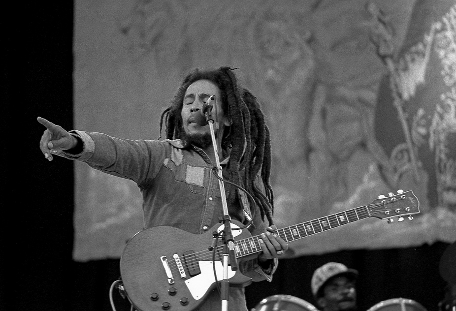 Bob Marley performing at Dalymount Park, on 6 July 1980. Credit: Eddie Malin