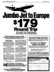 late feb 1973 jumbo jet to europe
