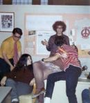 mid-march 1973 office kiss