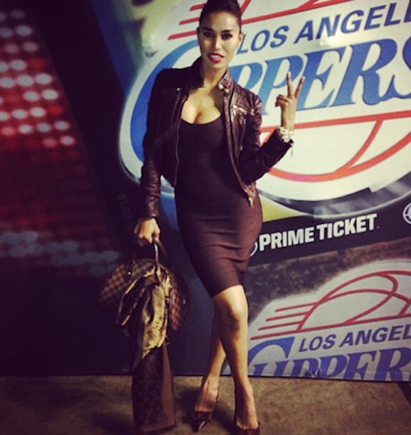 No judgment against V. Stiviano, I've been there. Pic from her Instagram.