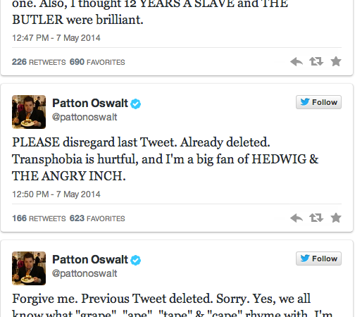 Patton Oswalt's Twitter Outrage Experiment Failed Miserably And Here's Why