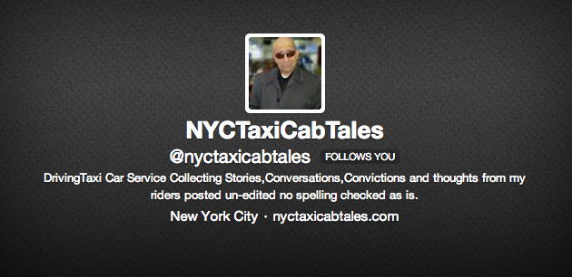 Twitter / @nyctaxicabtales