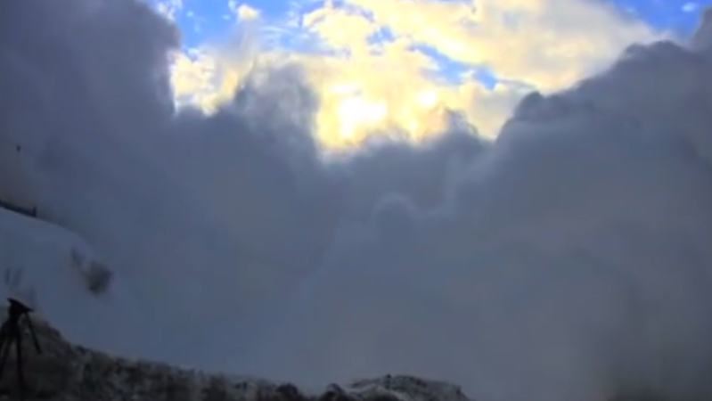 This Insane Man Films An Avalanche And Gets Buried Doing It — All WhileLaughing