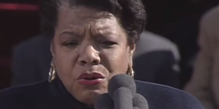 """Listen To Maya Angelou's Beautiful And Powerful Reading Of """"On The Pulse OfMorning"""""""