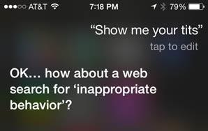 Sexually Harassing Siri