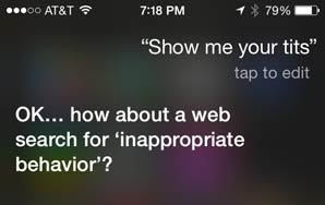 Sexually Harassing Siri