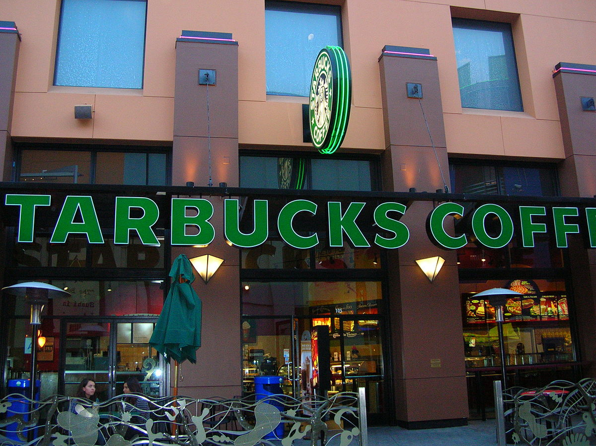 The Starbucks Coffee at Universal CityWalk Hollywood.