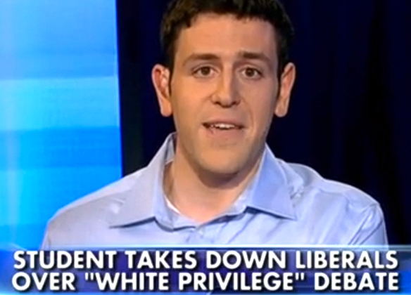 Princeton privilege-denier Tal Fortgang. Screen capture via YouTube.