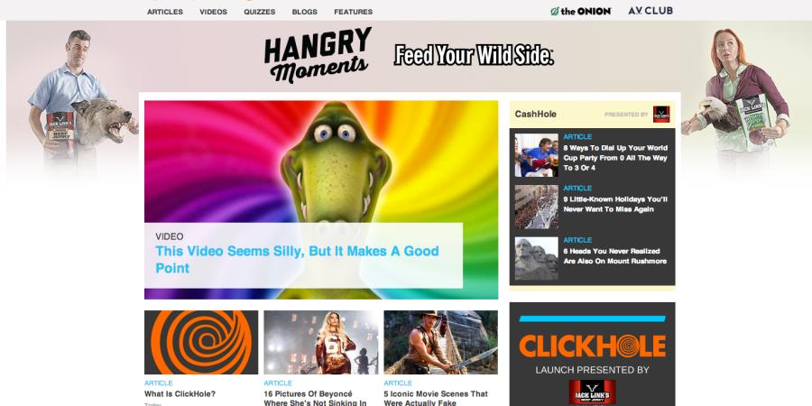 Clickhole. Funny… ButNecessary?