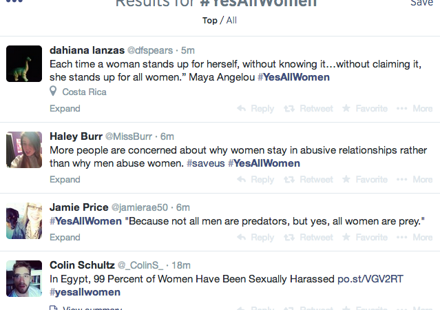 You Don't Have The Right To Feel Uncomfortable, #YesAllWomen