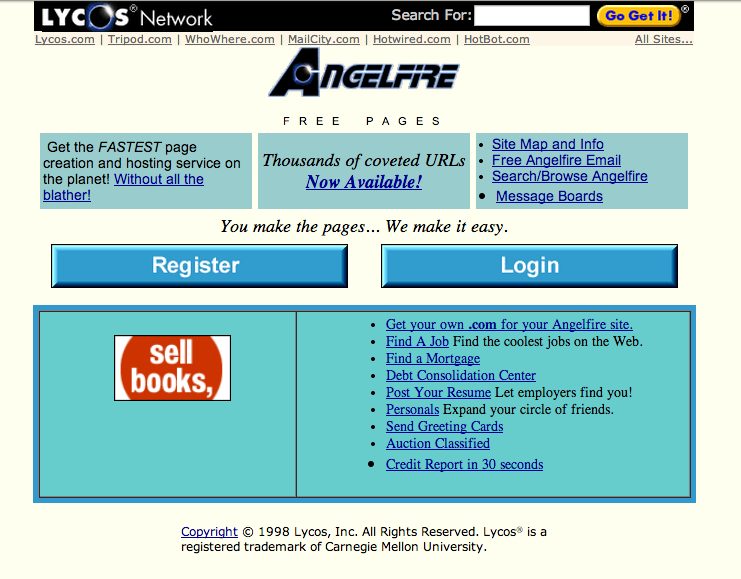 web.archive.org / Angelfire