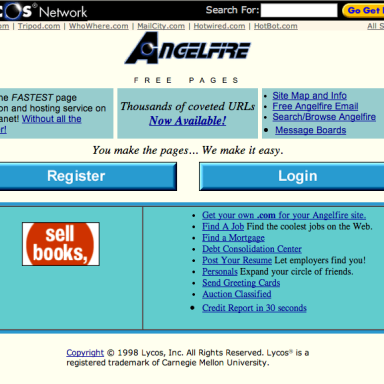 11 Familiar Internet Homepages From The 90s That Will Make You Laugh Out Loud