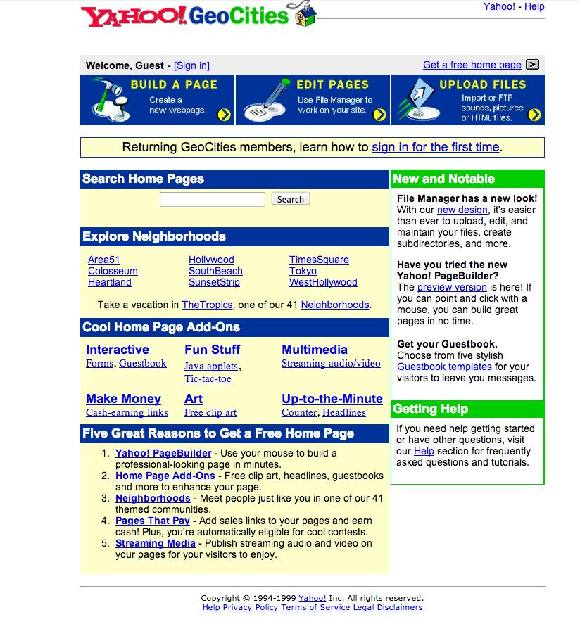 web.archive.org / Geocities