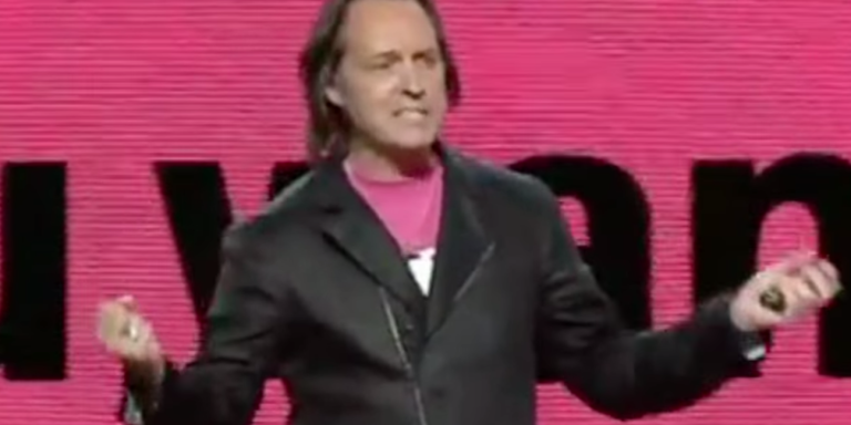 """T-Mobile CEO Calls AT&T And Verizon, """"F*ckers That Are RapingYou."""""""