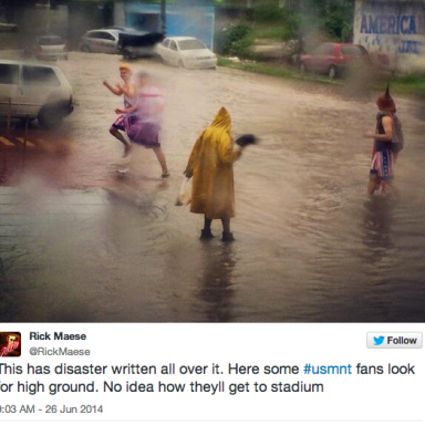 The Brazilian City Where The United States Is Playing Against Germany Is Basically Flooded