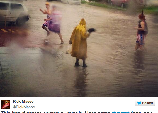 The Brazilian City Where The United States Is Playing Against Germany Is BasicallyFlooded