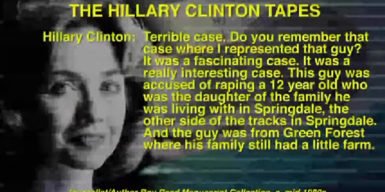 Audio: Hillary Clinton Knowingly Defended A Child Rapist Then Kind Of Bragged About It OnTape