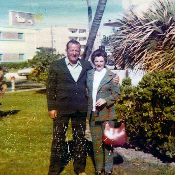 My parents on vacation in Florida circa 1975.