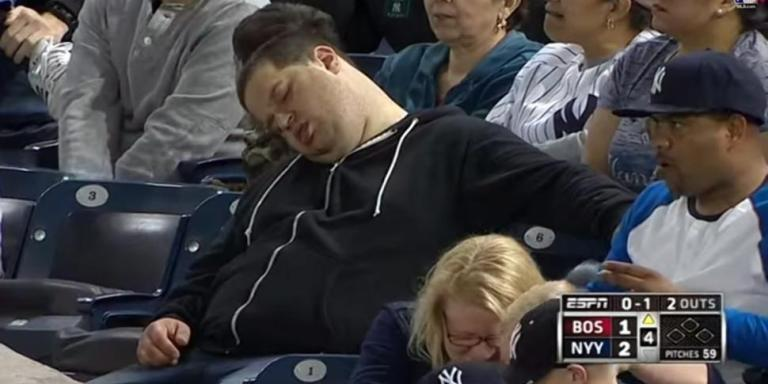 Why The 'Napping Fan' Andrew Rector Gives Americans & Yankees Fans A BadName