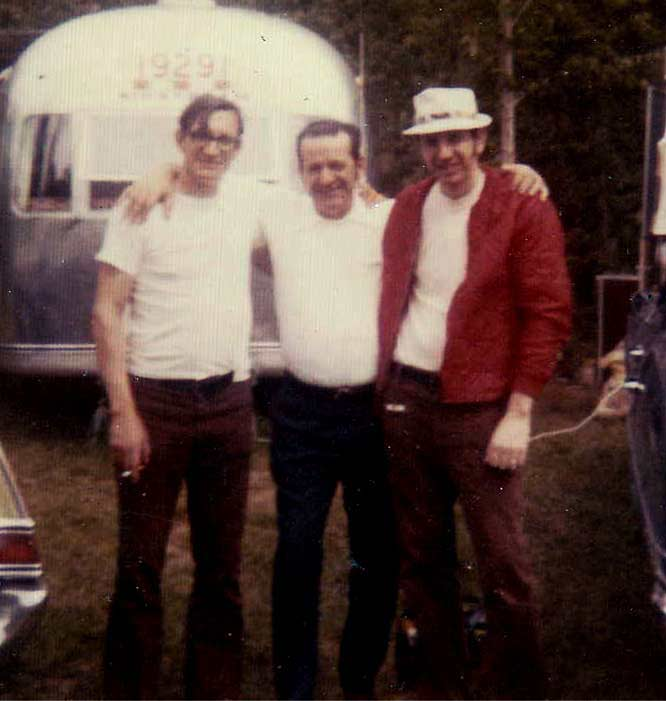"""L-R: Uncle Carlton Goad (AKA """"Carty""""), my father, Uncle Leon Goad, Jr. (AKA """"Juney"""") in Vermont circa 1978"""