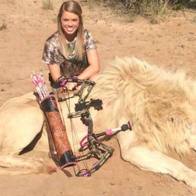 Texas Cheerleader Poses For Photos With Animals She's Killed, Gets Death Threats