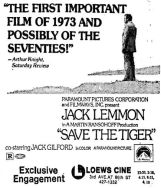 late may 1973 ad save the tiger