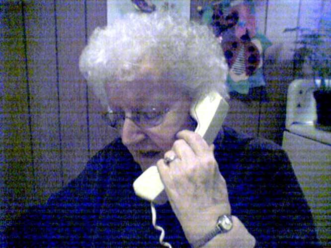 My aunt Marion McKay (née Parker) in 2005, age 84.