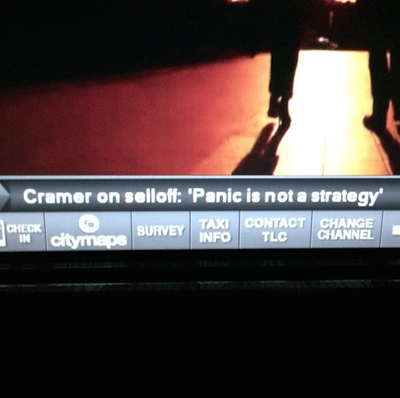 Panic is not a strategy