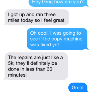 This Is What It's Like To Text With That Friend Who's Obsessed With The Gym